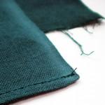 手ぬぐい生地の縫製